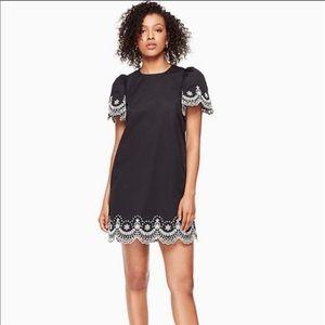 Kate Spade Black Broome Street Cutwork Dress